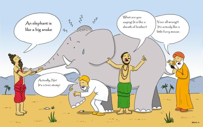 Sufi Story...Elephant & blind sages by Blanca Marti for Equilibre