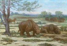 Horses,_Toxodon_and_Proboscidean_Mastodon
